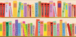 Bild eines Bücherregals mit lauter bunten Büchern für den Blogpost Ich habe einen Lesben-Buchclub gegründet von Jess Lea